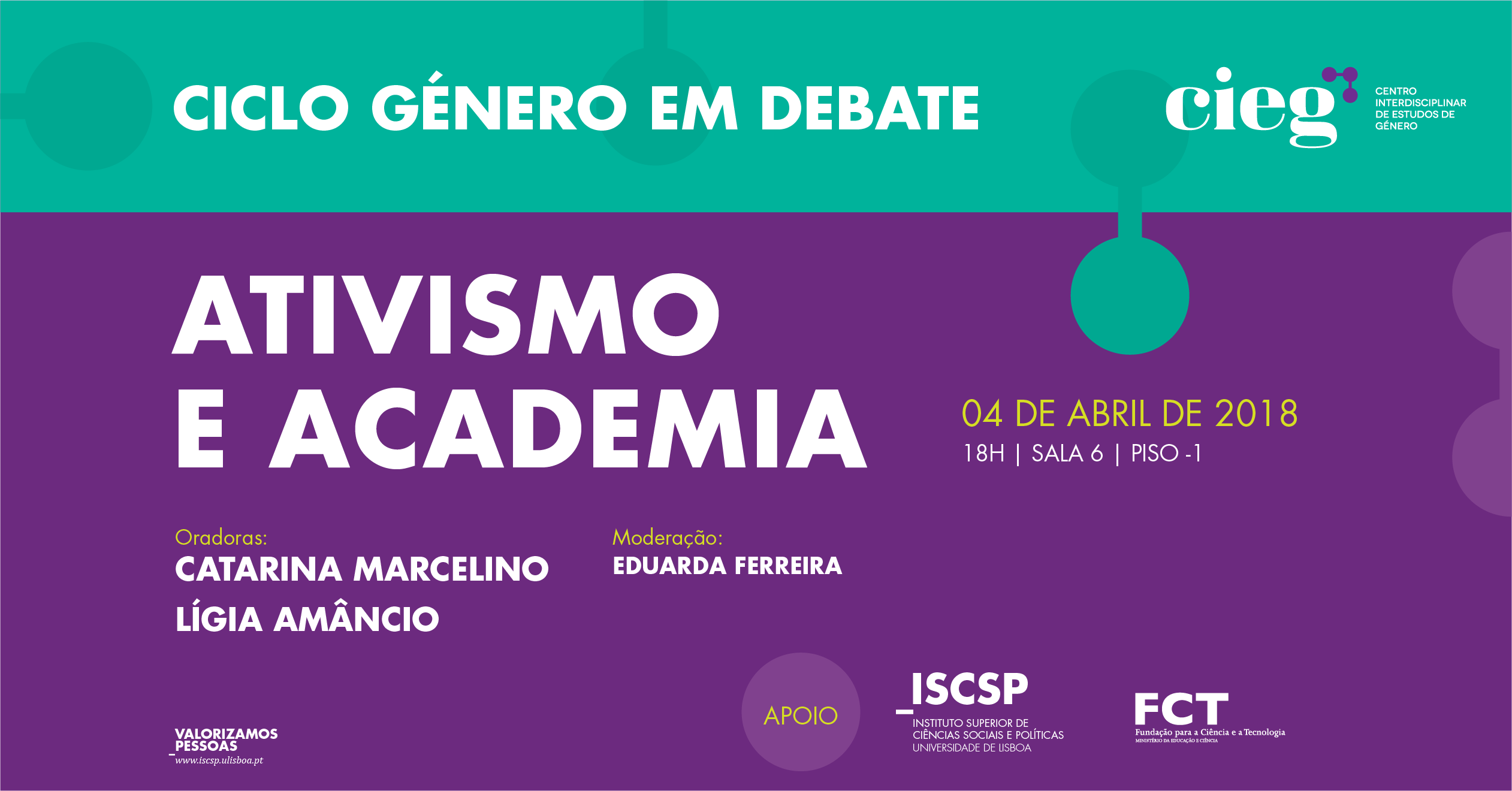 noticia ciclo genero em debate cieg abril 2018