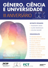 3rd Anniversary Conference: Gender, Science and University